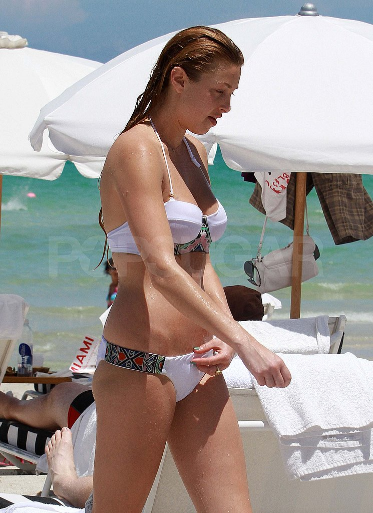 Whitney Port in a bikini in Miami.