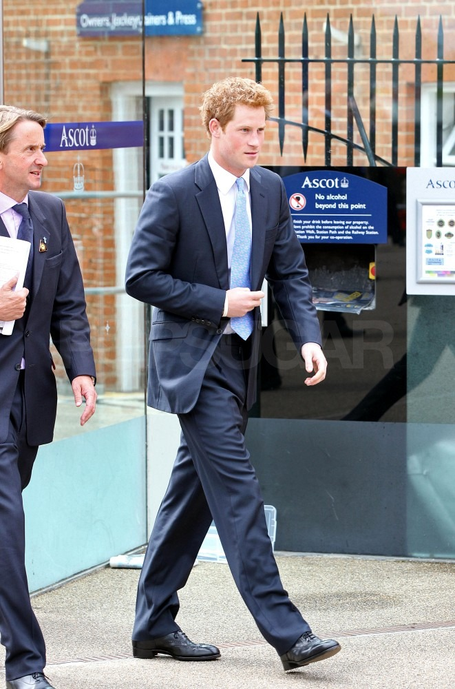 Prince Harry looks hot.