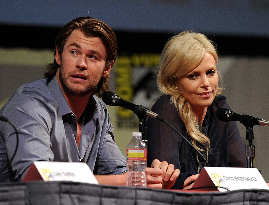 Chris Hemsworth and Charlize Theron