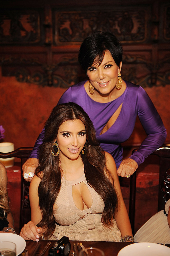 Kim Kardashian and Kris Jenner took a mother-daughter photo.
