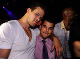Kris Humphries and Rob Kardashian shared a hug.