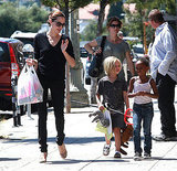 Angelina Jolie in LA with Shiloh Jolie-Pitt and Zahara Jolie-Pitt.