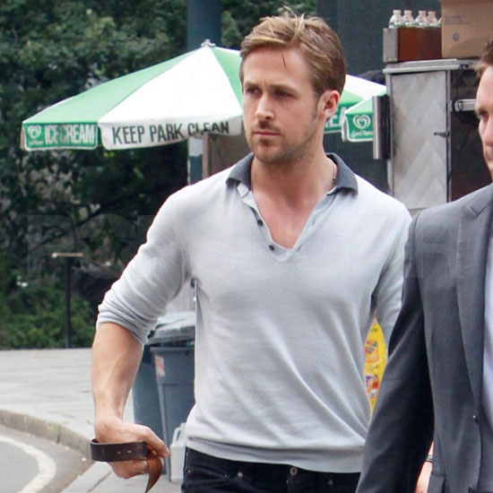 Ryan Gosling Brings His Dog Along For a Day of Crazy Stupid Love Press in NYC