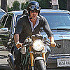 Ryan Reynolds Riding His Motorcycle Around LA