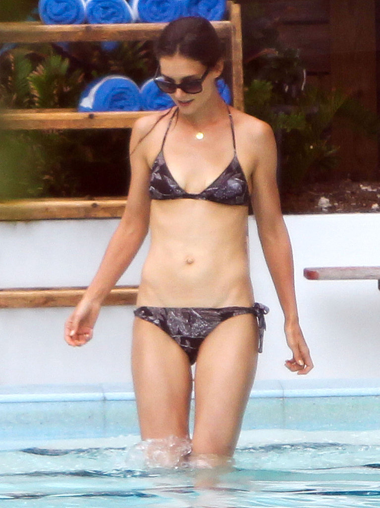 Katie Holmes in a two piece.