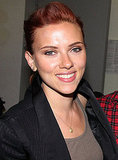 Scarlett Johansson flashed a smile.