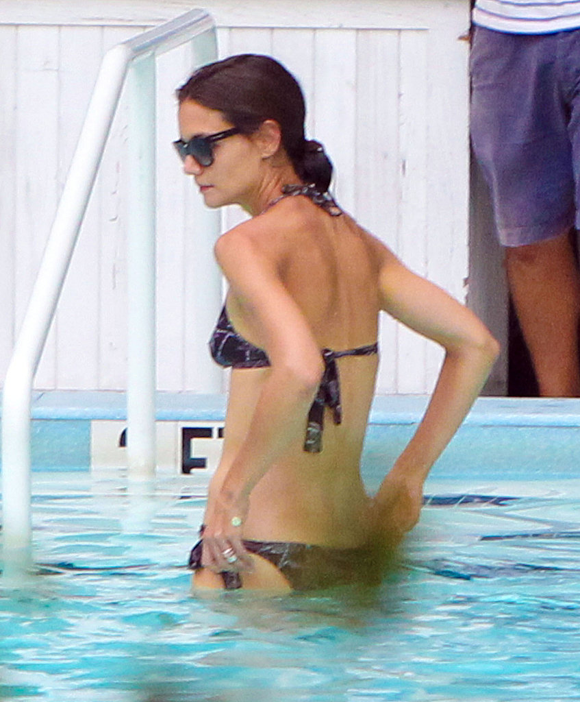 Katie Holmes goes for a swim.