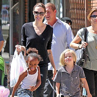 Angelina Jolie Pictures With Shiloh Jolie-Pitt and Zahara Jolie-Pitt