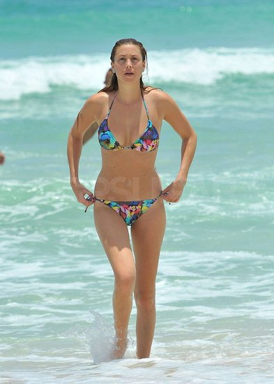 Whitney Port Hits the Beach in a Fun, Floral-Print Bikini