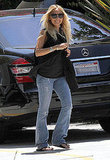 Nicole Richie slipped into a pair of jeans for a casual visit to a friend's house.