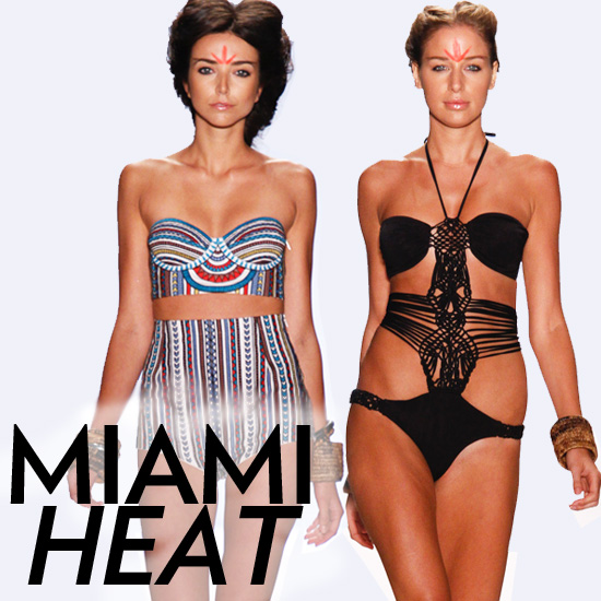 Miami Swim Week Gets Hot With Powerful Prints and Sexy One-Pieces