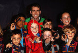 Matthew Lewis and School Students