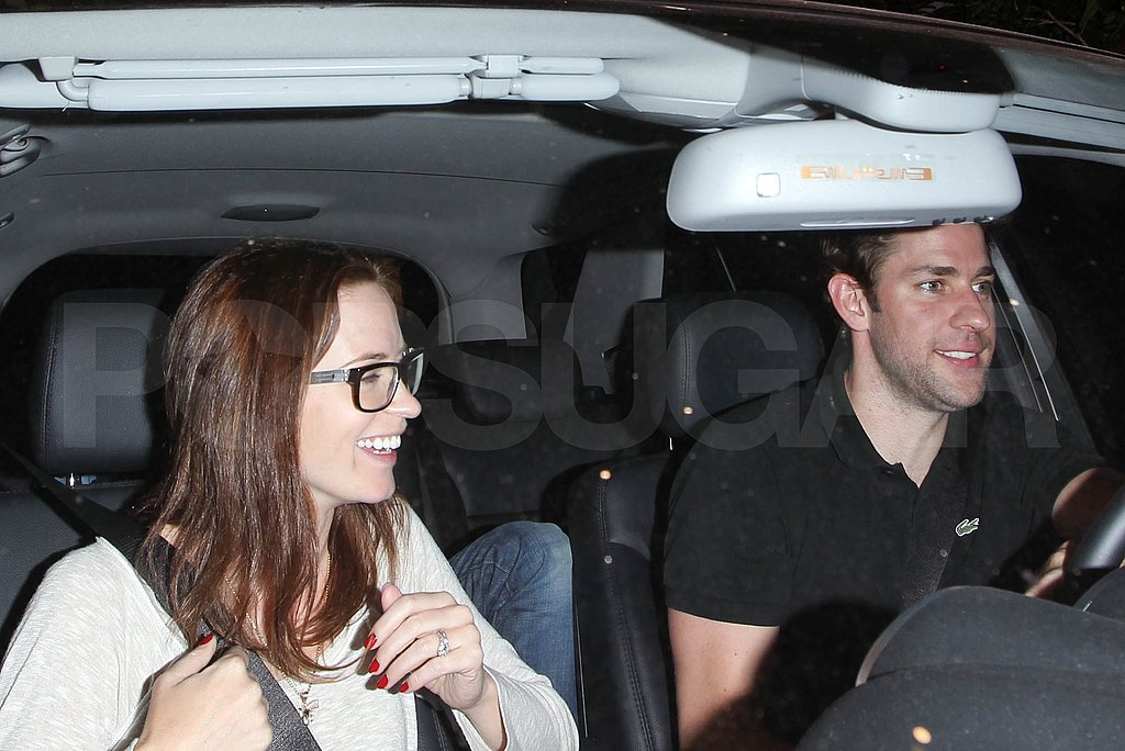 Emily Blunt and John Krasinski at the Chateau Marmont.