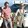 Kate Hudson and Matthew Bellamy With a Kite in Malibu