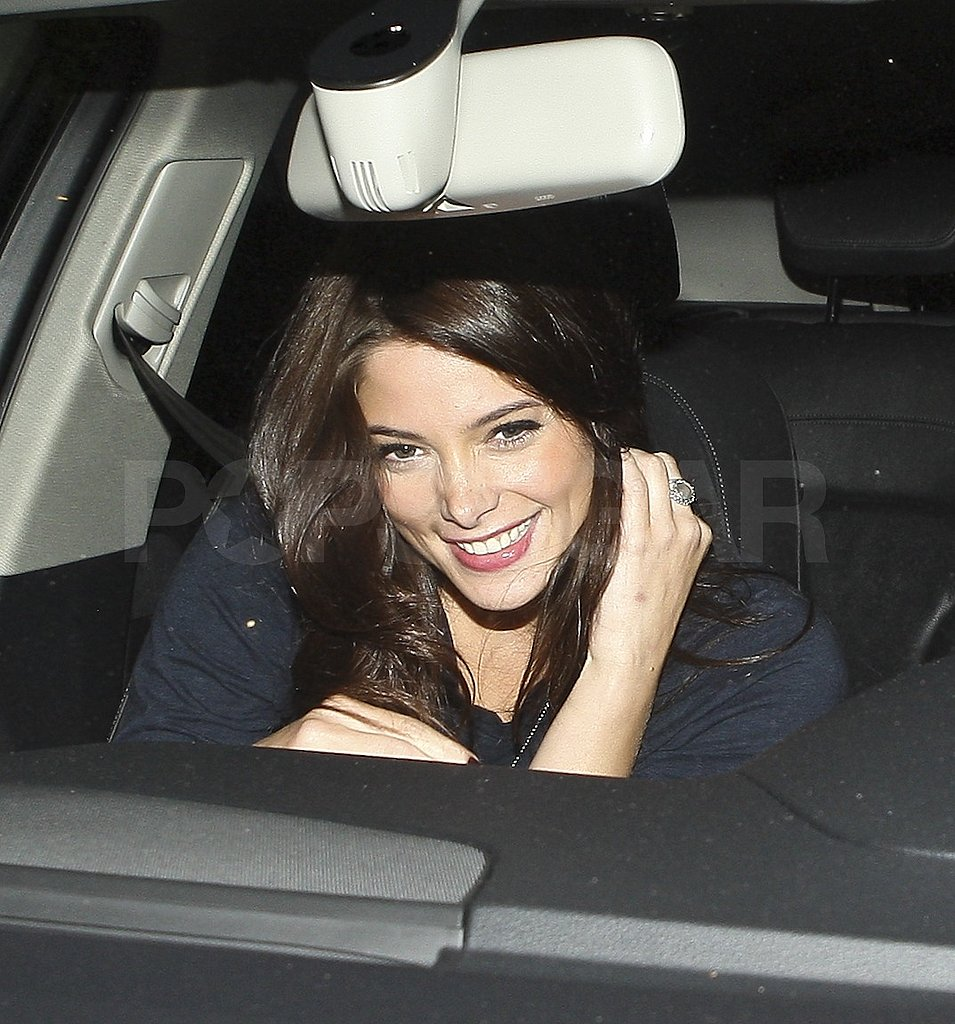 Ashley Greene left dinner at Nobu in LA.