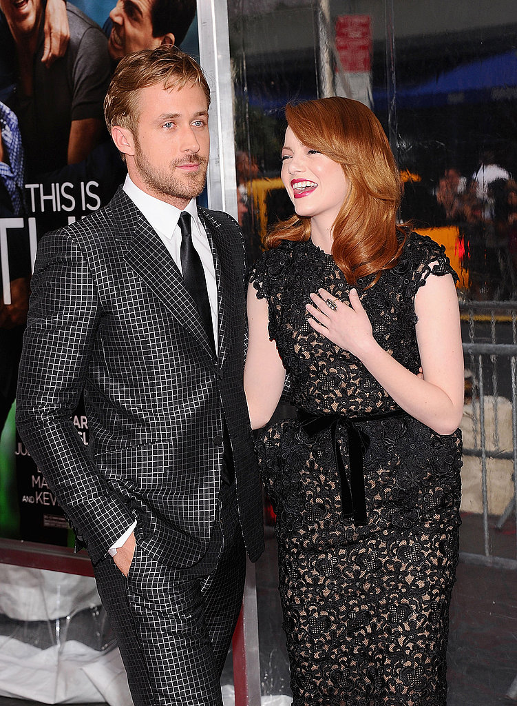 Ryan Gosling and Emma Stone at the Crazy Stupid Love premiere in NYC.