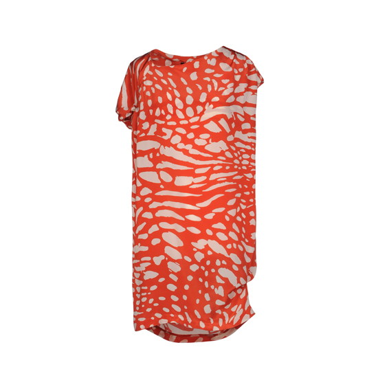 Thakoon Orange Crepe Dress, $1,125