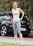Leslie Mann looked fit in her workout gear.
