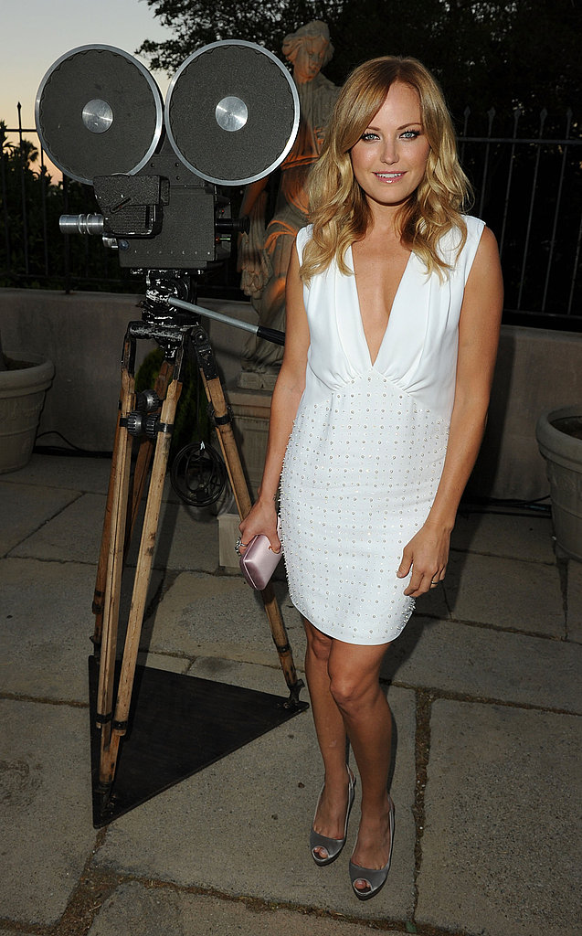 Malin Akerman in a hot white dress.