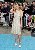 Jennifer Aniston smiles at London Horrible Bosses premiere.