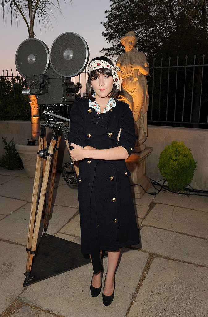 Shannon Woodward parties in LA.