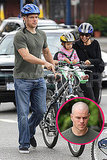 Matt Damon Debuts His Bald Head on a Bike Ride With His Girls!