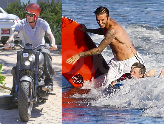 David Takes a Solo Ride Then Returns Home For a Shirtless Swim