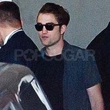 Robert Pattinson leaves Comic-Con.