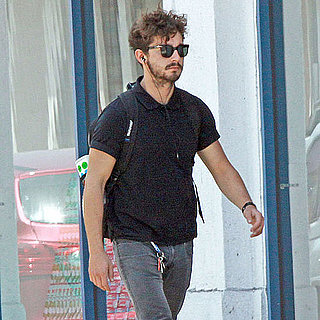 Shia LaBeouf Eating an Ice Cream Sandwich in LA Pictures