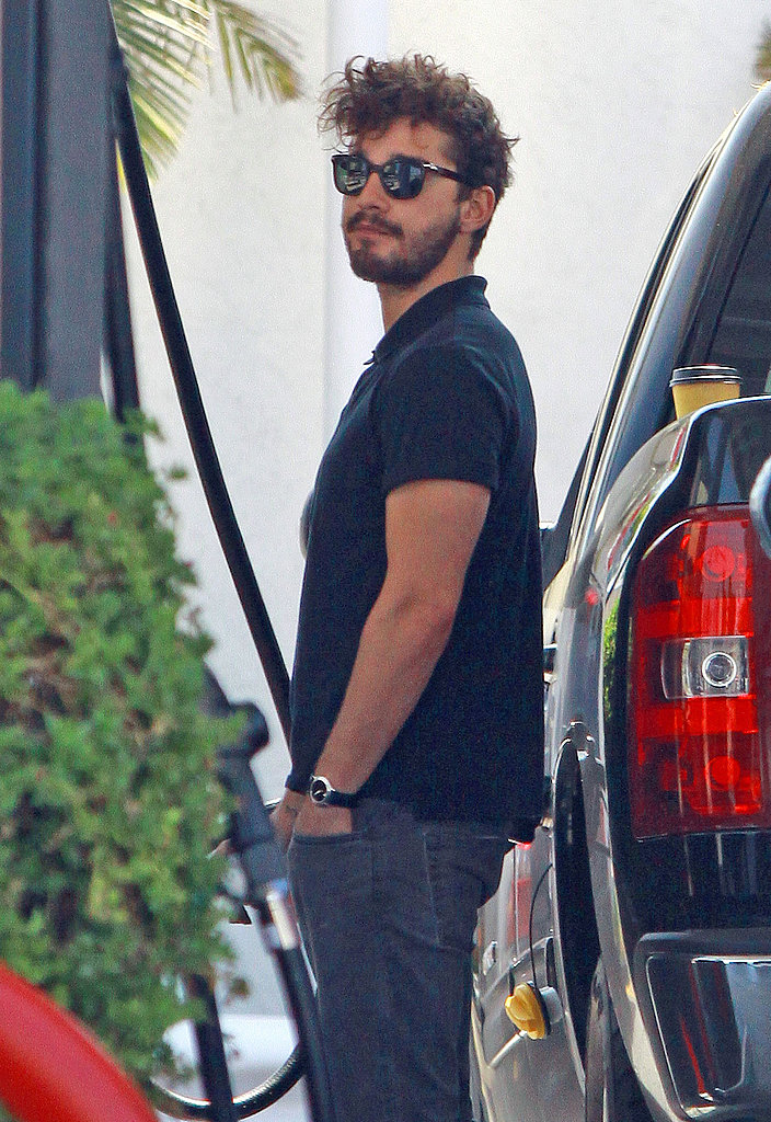Shia LaBeouf Unwinds Between Gigs and Lets His Hair Fly Freely