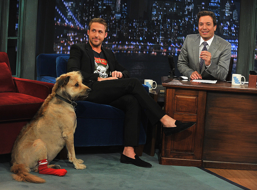 Ryan Gosling and Jimmy Fallon.