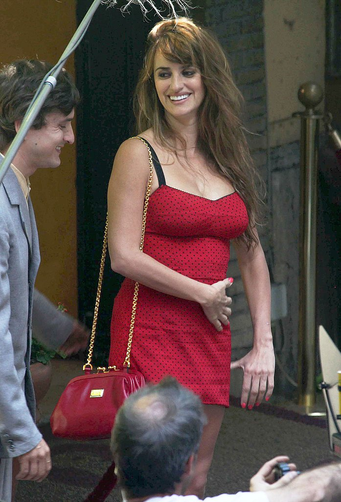 Penelope Cruz had a laugh with her scene mate.