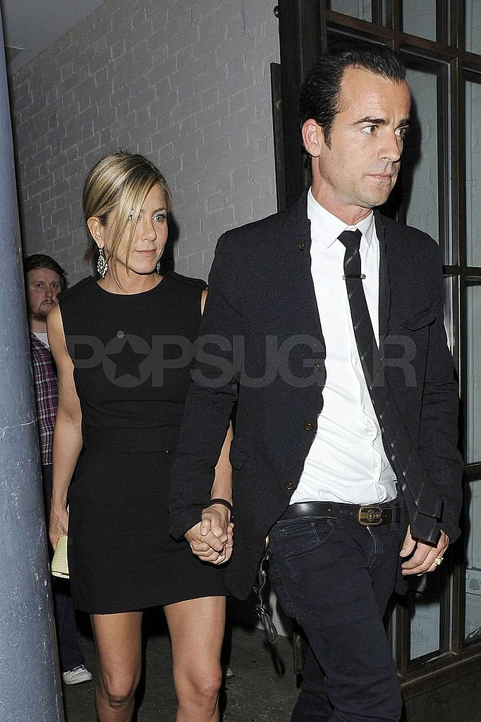 Jennifer Aniston and Justin Theroux Hold Hands After Romantic Dinner in London