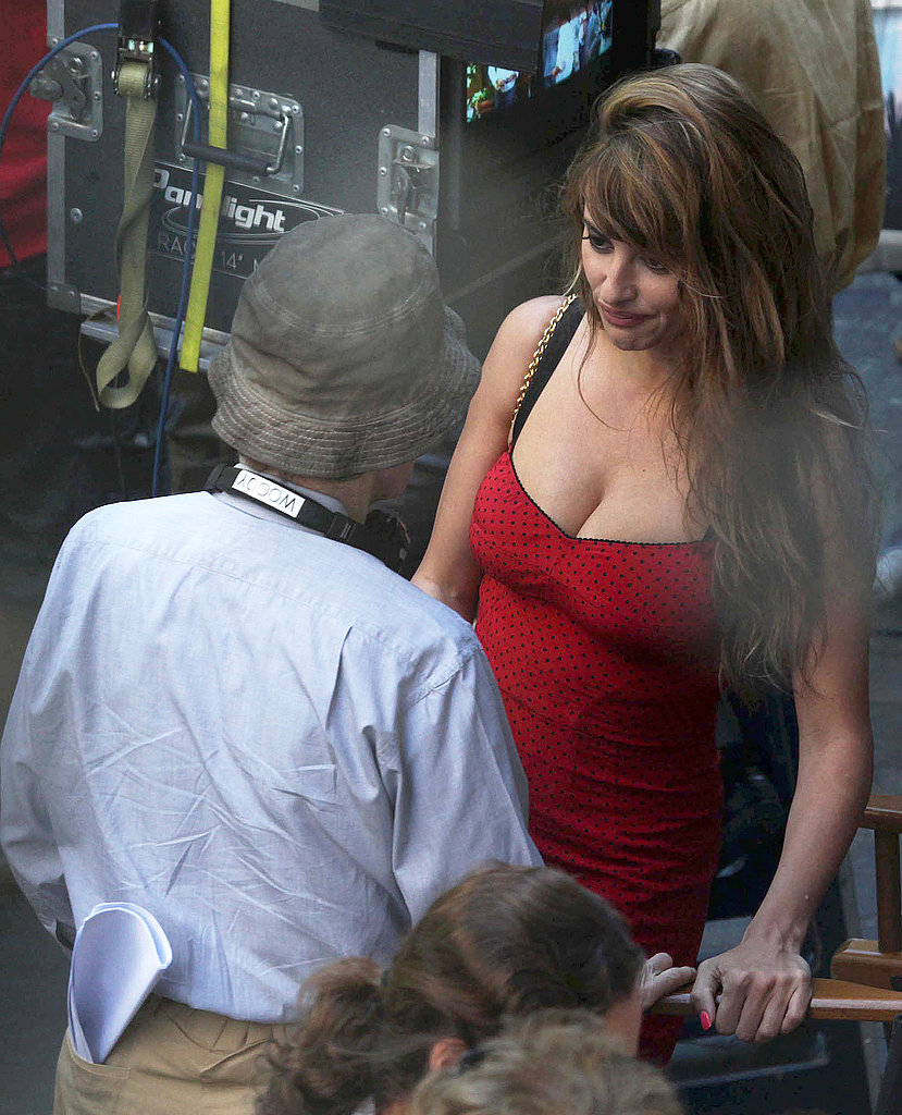 Penelope Cruz talked with her director.