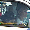 Justin Bieber and Selena Gomez Pictures Driving in LA