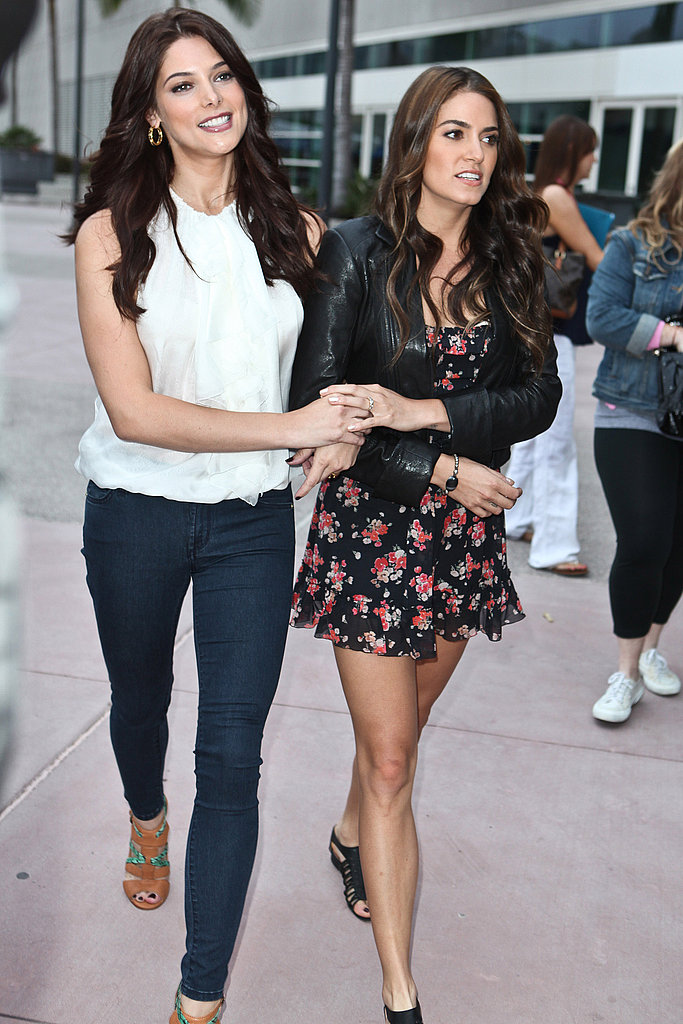 Nikki Reed and Ashley Greene at Comic-Con.