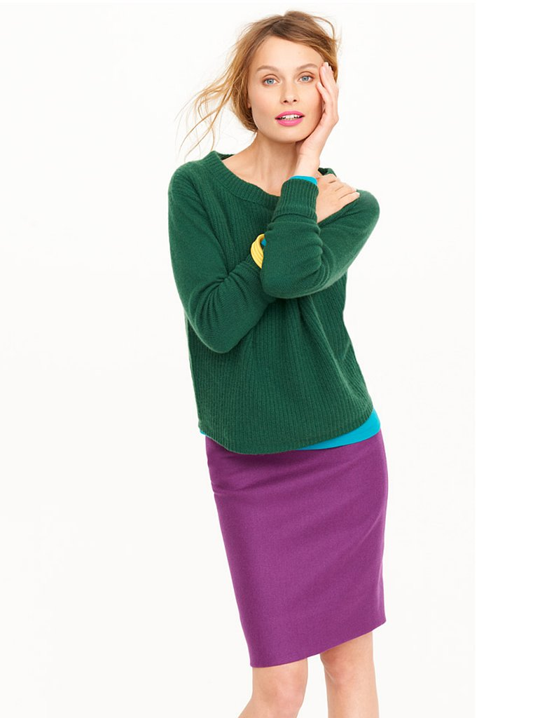 Cashmere Ribbed Sweater, $248