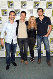 Sarah Michelle Gellar and the men of Ringer attended Comic Con in San Diego yesterday.