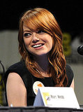 Emma Stone smiled at her costars.