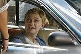 Dakota Fanning shot a scene in a car.
