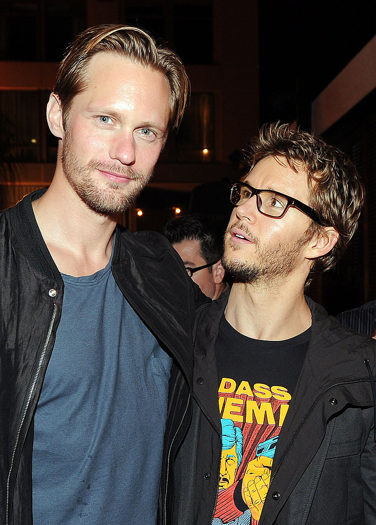 Ryan Kwanten and Alexander Skarsgard joined forces at the True Blood party.