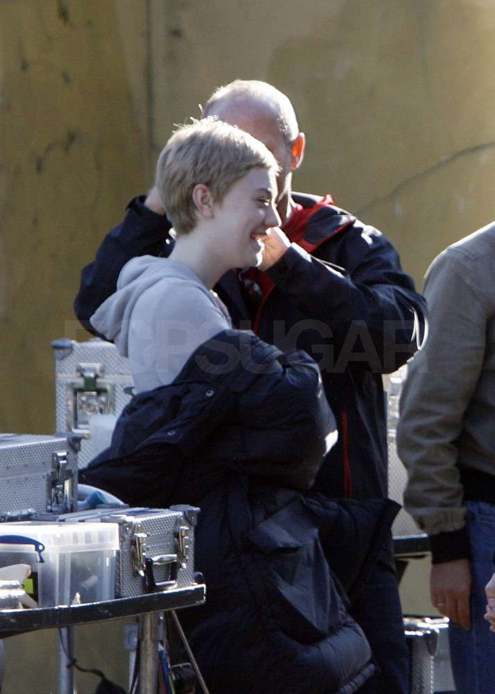 Dakota Fanning laughed between takes.