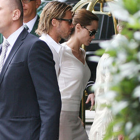 Angelina Jolie and Brad Pitt Pictures at London's Dorchester