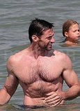 Hugh Jackman shirtless.