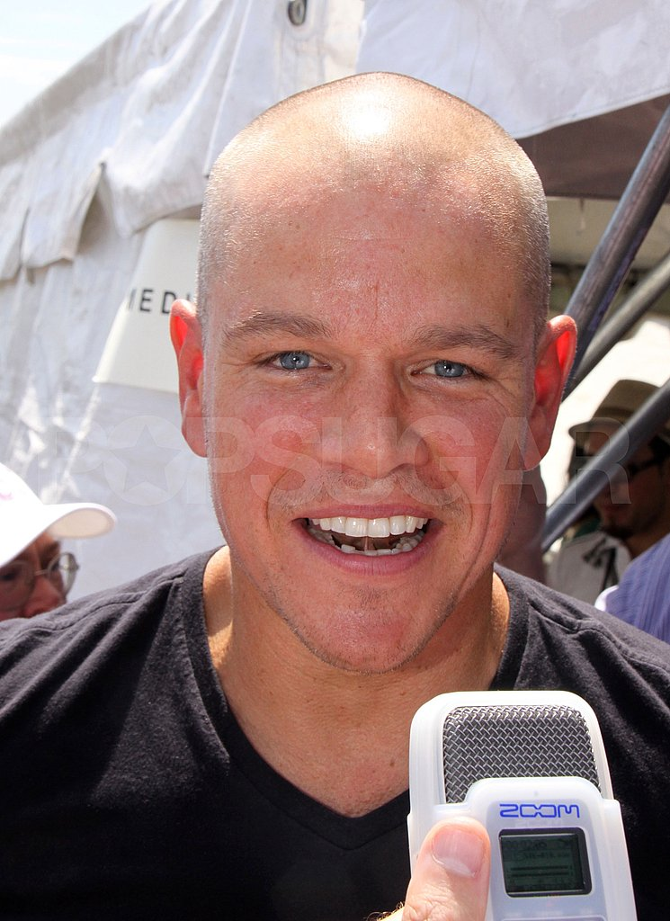 Bald Matt Damon.