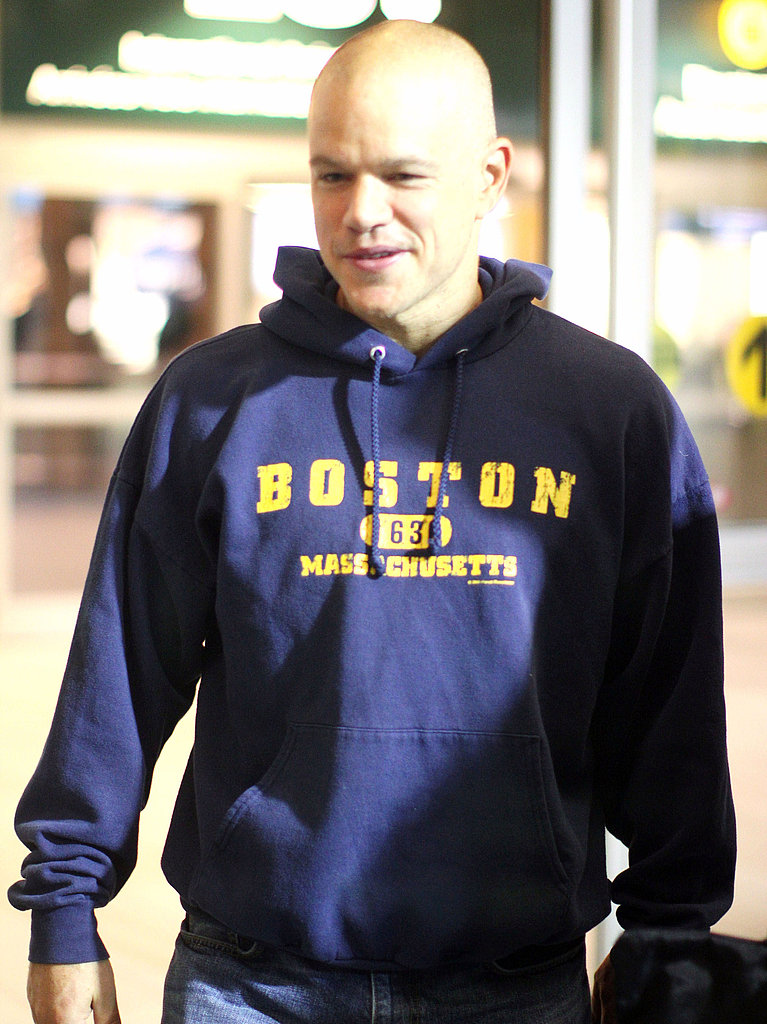 Matt Damon takes off from DC.
