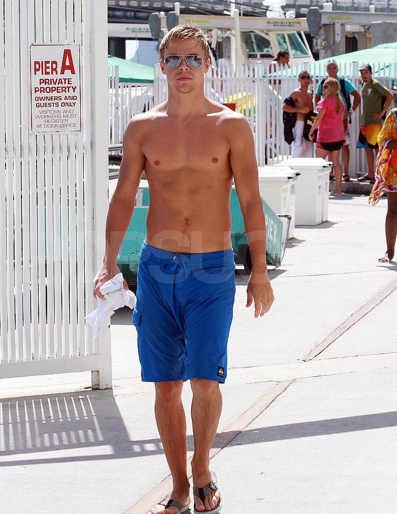 Derek Hough shirtless.