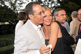 Gwyneth Paltrow hugs Jerry Seinfeld.