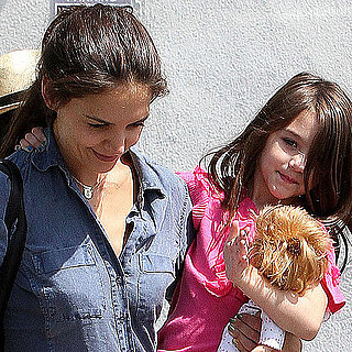 Katie Holmes and Suri Cruise Pictures Running Errands in LA