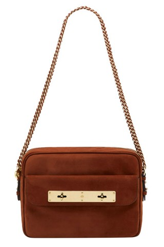 Carter Camera Bag in Fox Brown Suede, $1,400